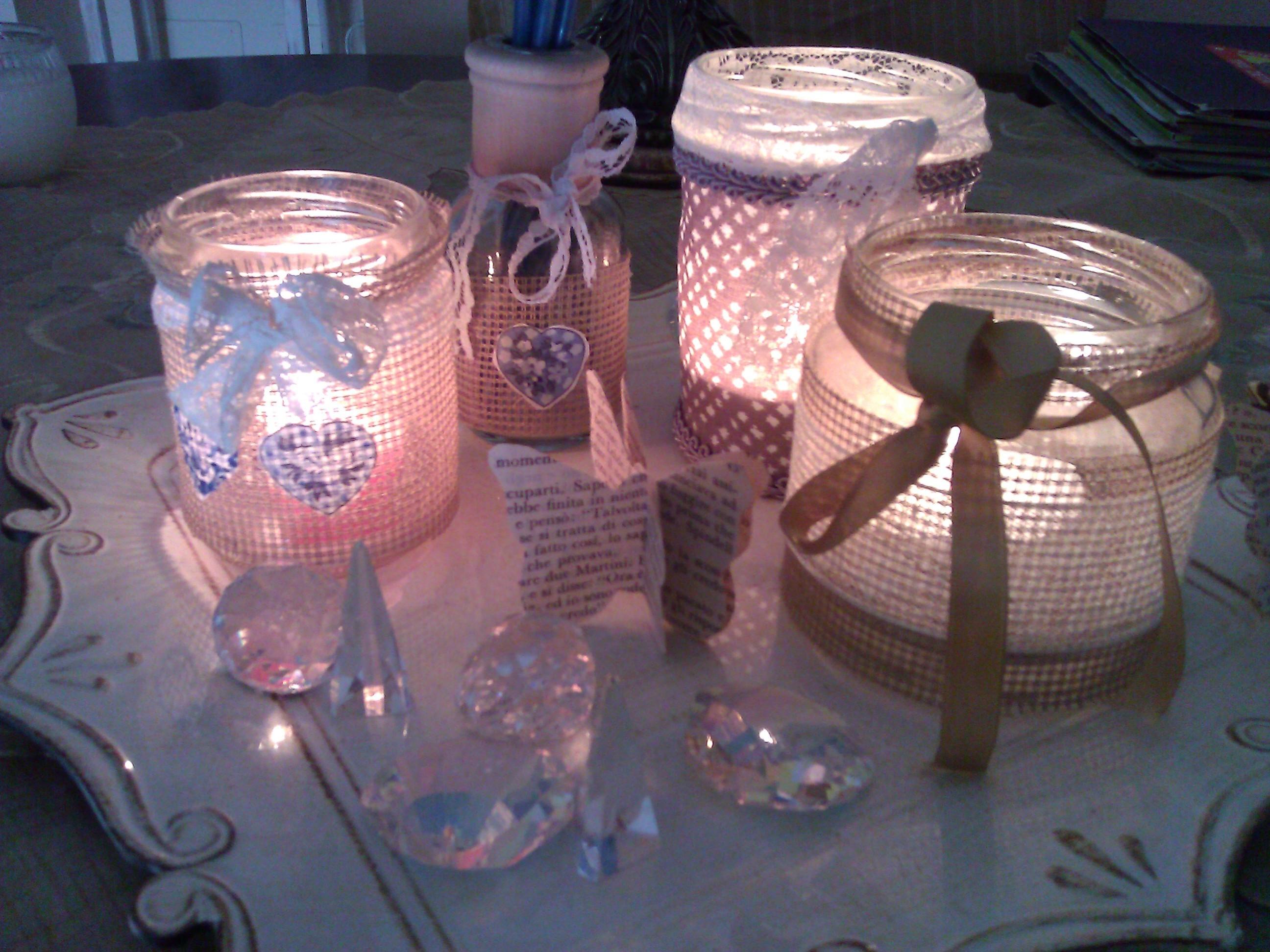 Barattoli decorati shabby zb07 regardsdefemmes - Come decorare un barattolo ...
