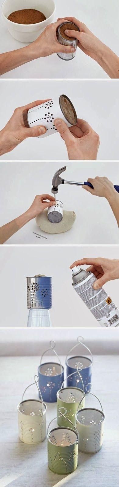 Idea per realizzare delle lanterne di latta shabby
