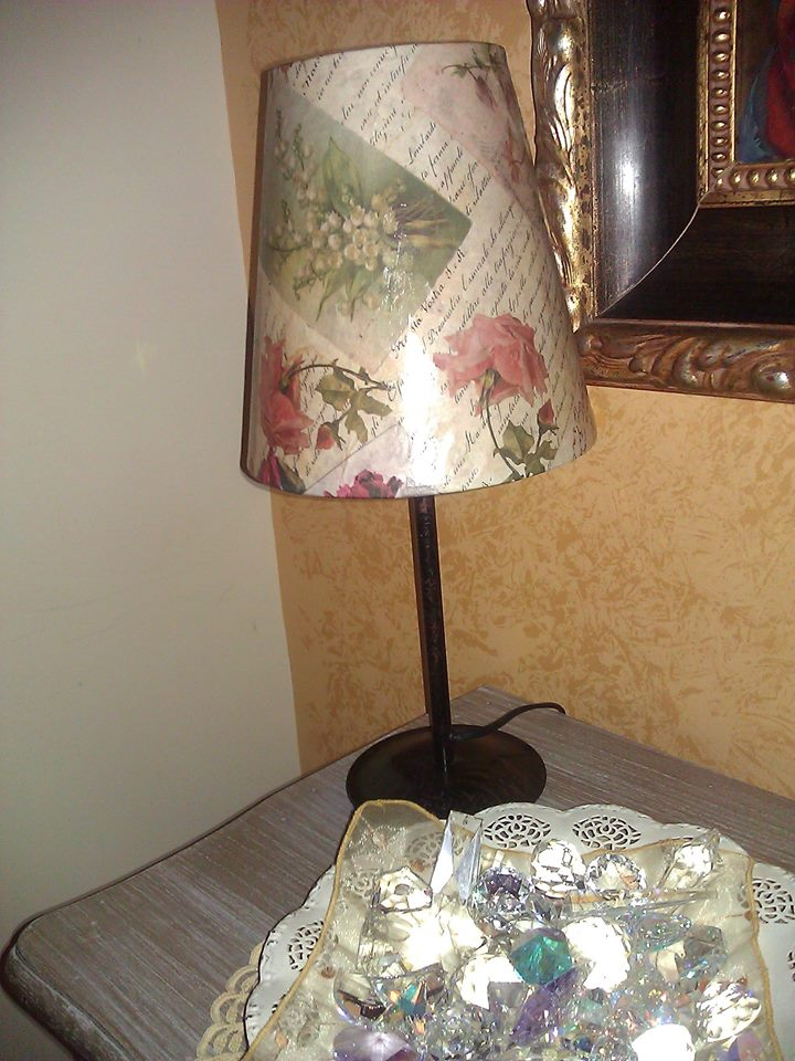 Lumetto con decoupage