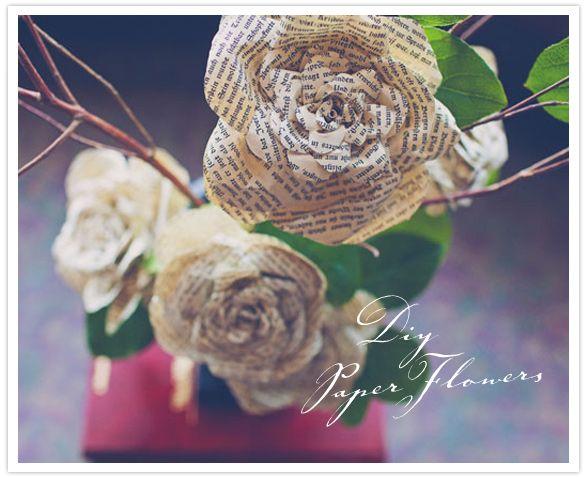 Tutorial per creare delle belle rose di carta per decorazioni shabby