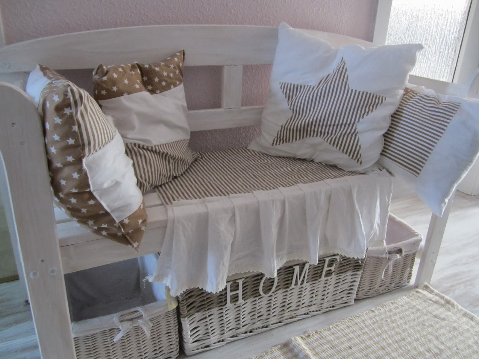 Le panche divano in stile shabby chic