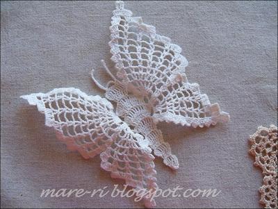 Farfalla Alluncinetto Con Schema Per Decorazioni Shabby Chic Il