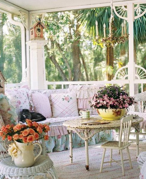 Oasi di paradiso in veranda stile shabby chic il blog for Tea room interior design ideas