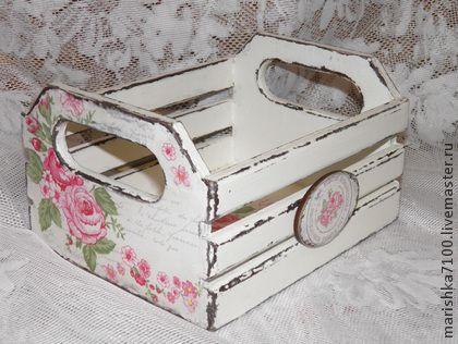 Cassette Di Legno Con Decoupage Stile Shabby Il Blog Italiano