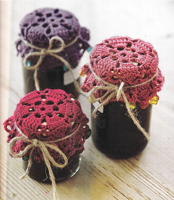 vendita di liquidazione nuovo prodotto super popolare Copri barattoli all'uncinetto Shabby Chic - Il blog italiano sullo ...