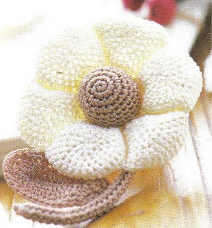 Grazioso fiore con schema per decorazioni
