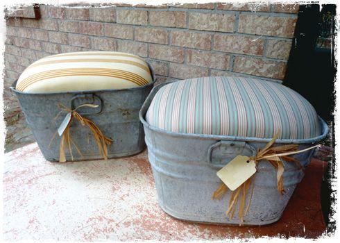 Riciclare vecchie bacinelle in zinco e riadattarle allo stile Shabby
