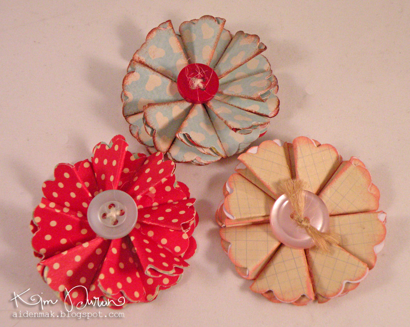 Fiori di carta per decorazioni Shabby
