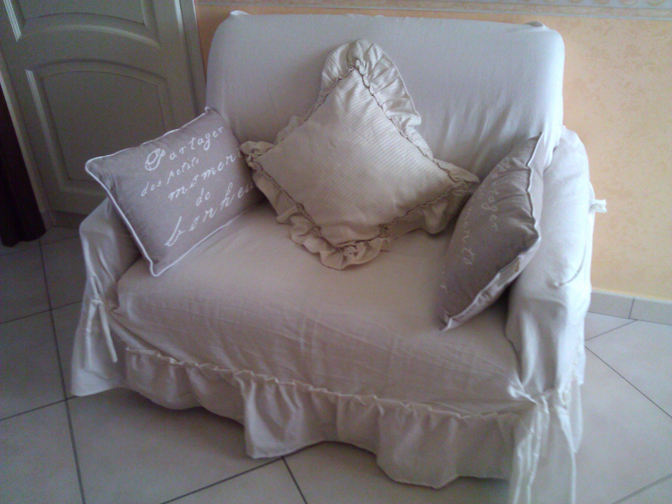 Copri divano in tessuto stile Shabby