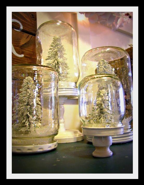 Idee Natalizie con i barattoli di vetro