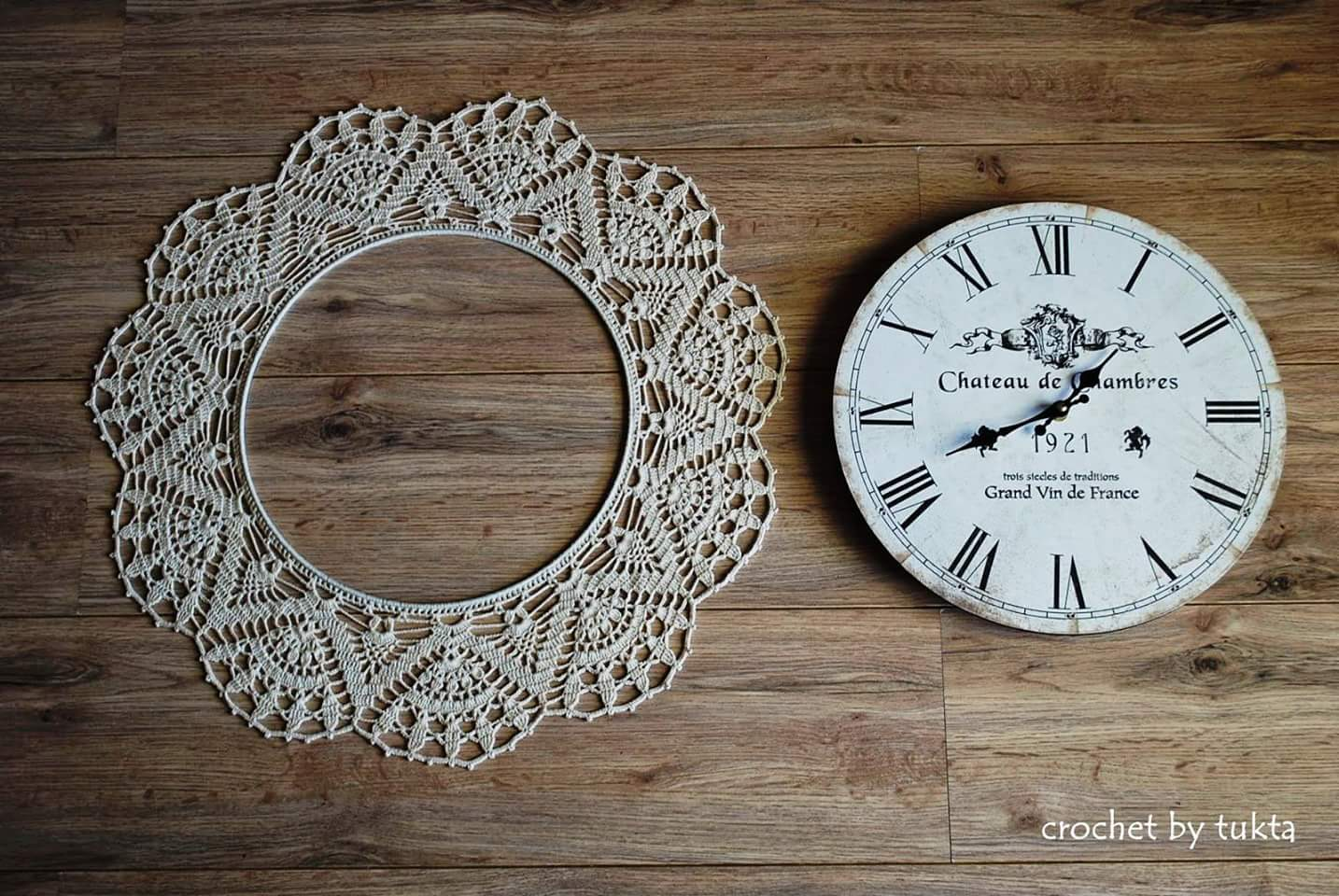 orologio da parete all 39 uncinetto