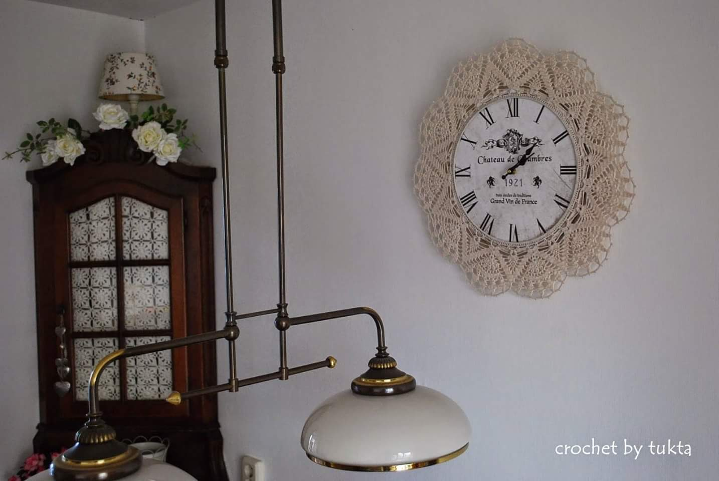 Orologi da parete Shabby Chic all'uncinetto e merletto