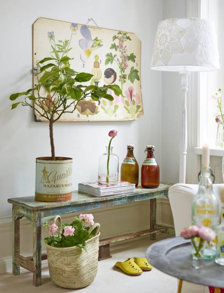 Accostare vecchie stampe di botanica nello Stile Shabby