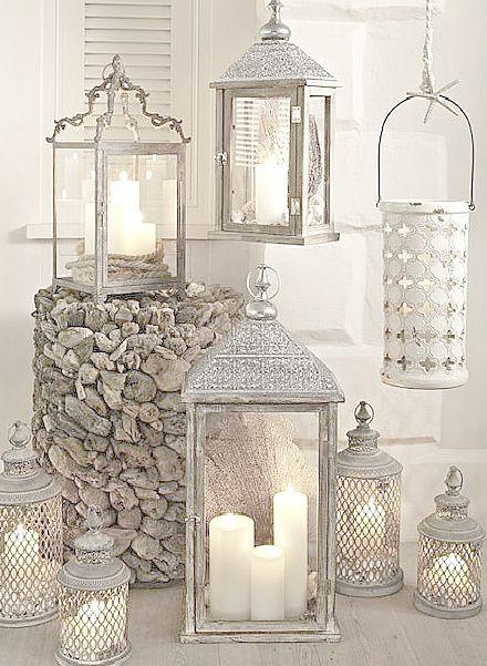 Copri lanterne all 39 uncinetto stile shabby il blog - Lanterne arredo casa ...