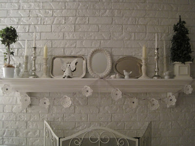 Ornamenti e decorazioni Shabby all'uncinetto