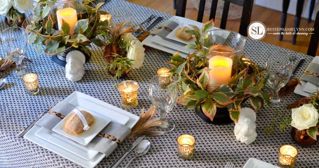 La tavola shabby si veste d 39 autunno il blog italiano for Easy table settings for thanksgiving