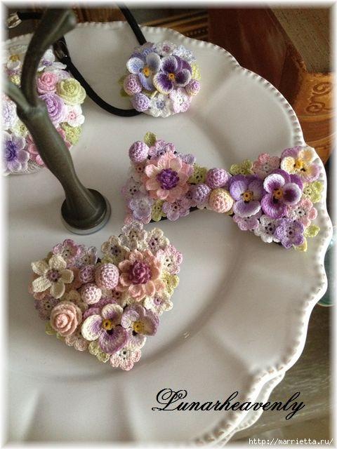 Tante stupende realizzazioni con fiorellini all'uncinetto