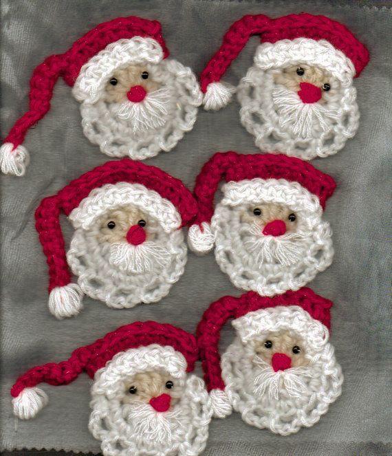 Tutorial di Babbo Natale all'uncinetto da appendere e non solo
