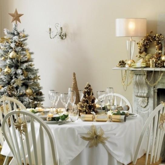 Idee per imbandire la tavola Shabby a Natale