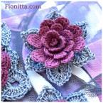 Tutorial per realizzare un bellissimo fiore Shabby all'uncinetto