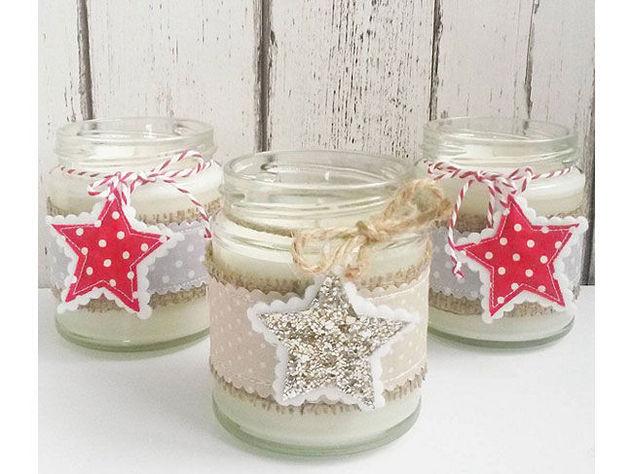 Idee regalo candele fai da te con tutorial il blog - Portacandele di natale fai da te ...