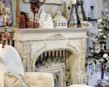 Come addobbare la casa shabby a natale il blog italiano for Decorazione camino