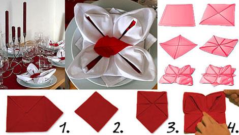 Come creare simpatiche coreografie di tovaglioli a natale - Decorazioni natalizie con tovaglioli di carta ...