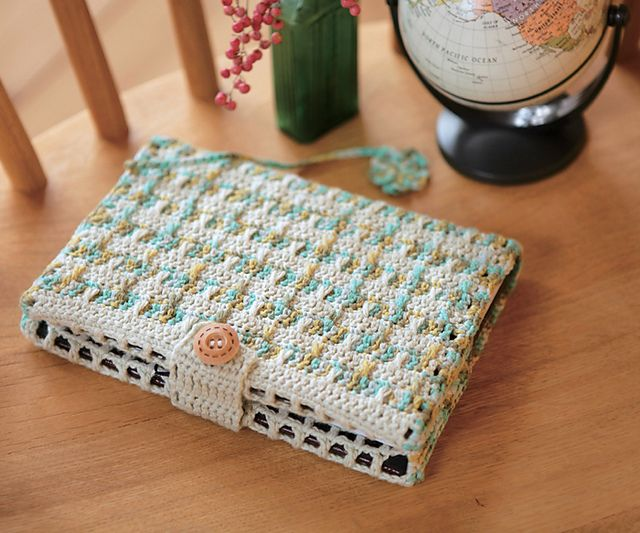 Book Cover Pattern ~ Copertura all uncinetto per agenda o diario il