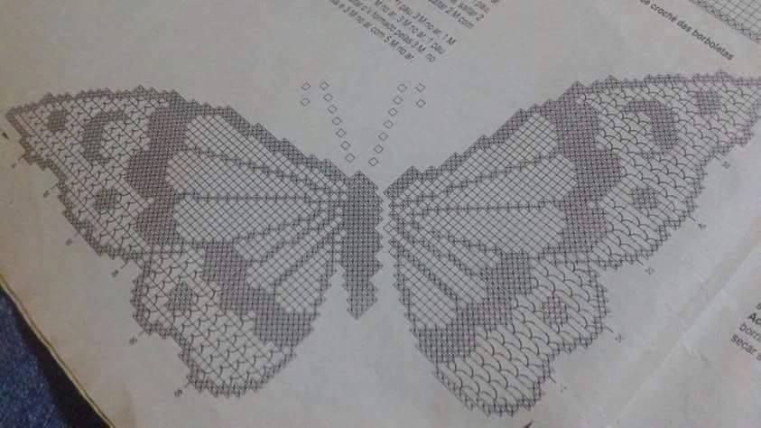 Bellissime Applicazioni Di Farfalle Alluncinetto Con Schema Il