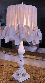 Lume Shabby realizzato con strisce di tessuto