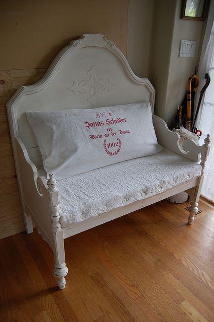 Idee e recupero delle vecchie testate da letto nello stile - Testate letto shabby chic ...