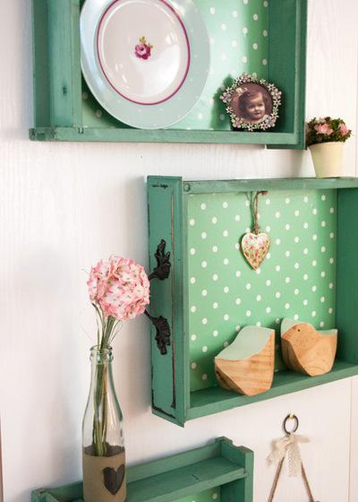 Idee e riciclo di vecchi cassetti nello stile shabby il for Vecchi piani di casa in stile meridionale