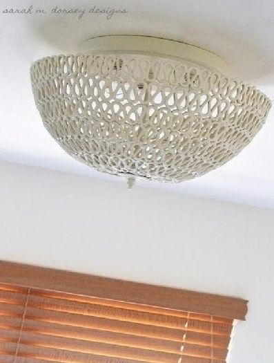 Tutorial per realizzare un lampadario Shabby con la corda