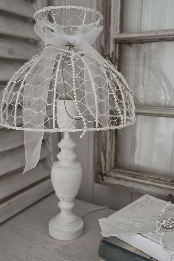 Come realizzare dei lumi e lampadari Shabby con la rete zincata