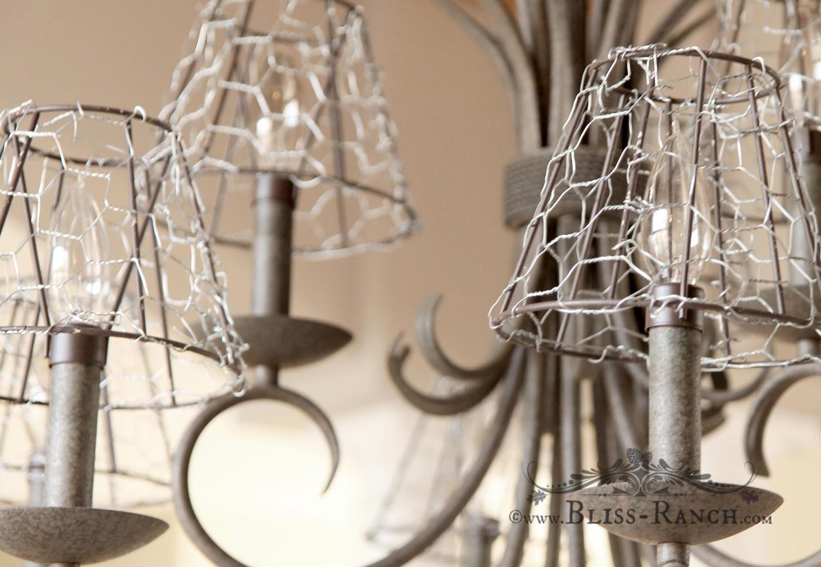 Come realizzare dei lumi e lampadari Shabby con la rete zincata ...