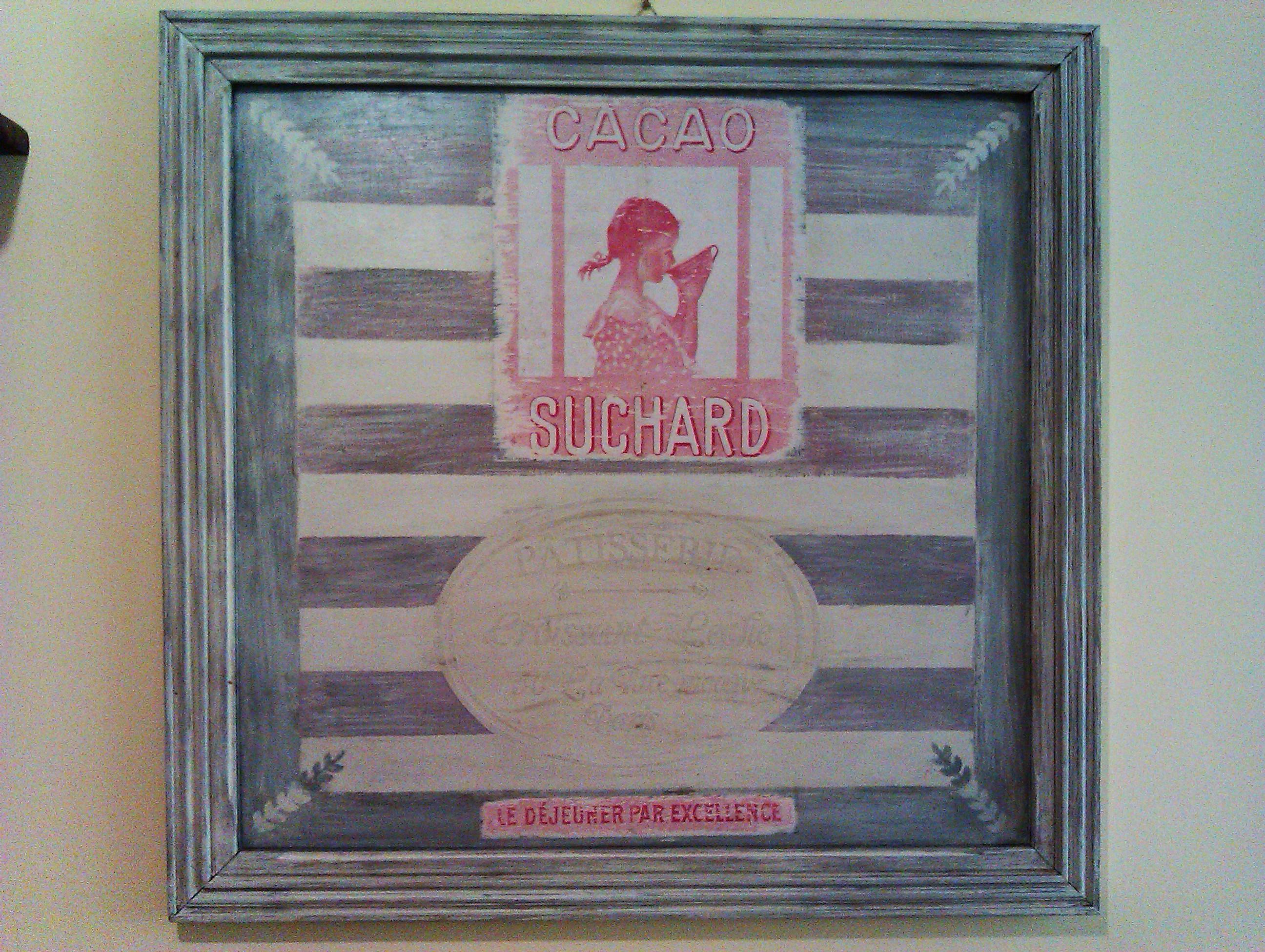 La pubblicità d'epoca Suchard nelle cornici Shabby