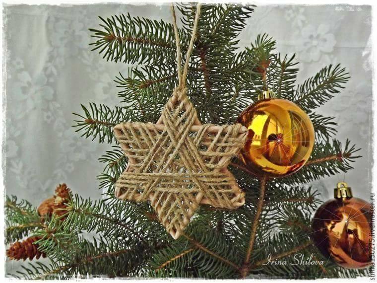 Tutorial per creare con lo spago decorazioni per l'albero di Natale