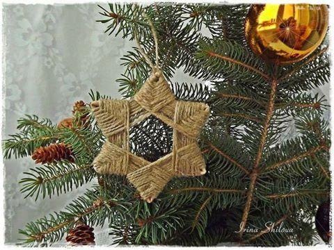 Tutorial per creare con lo spago decorazioni per l 39 albero - Creare decorazioni per natale ...