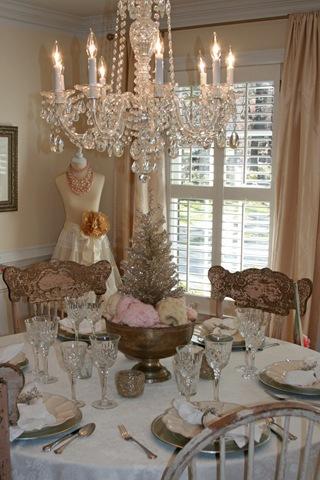 Idee per decorare le belle  tavole Shabby a Natale