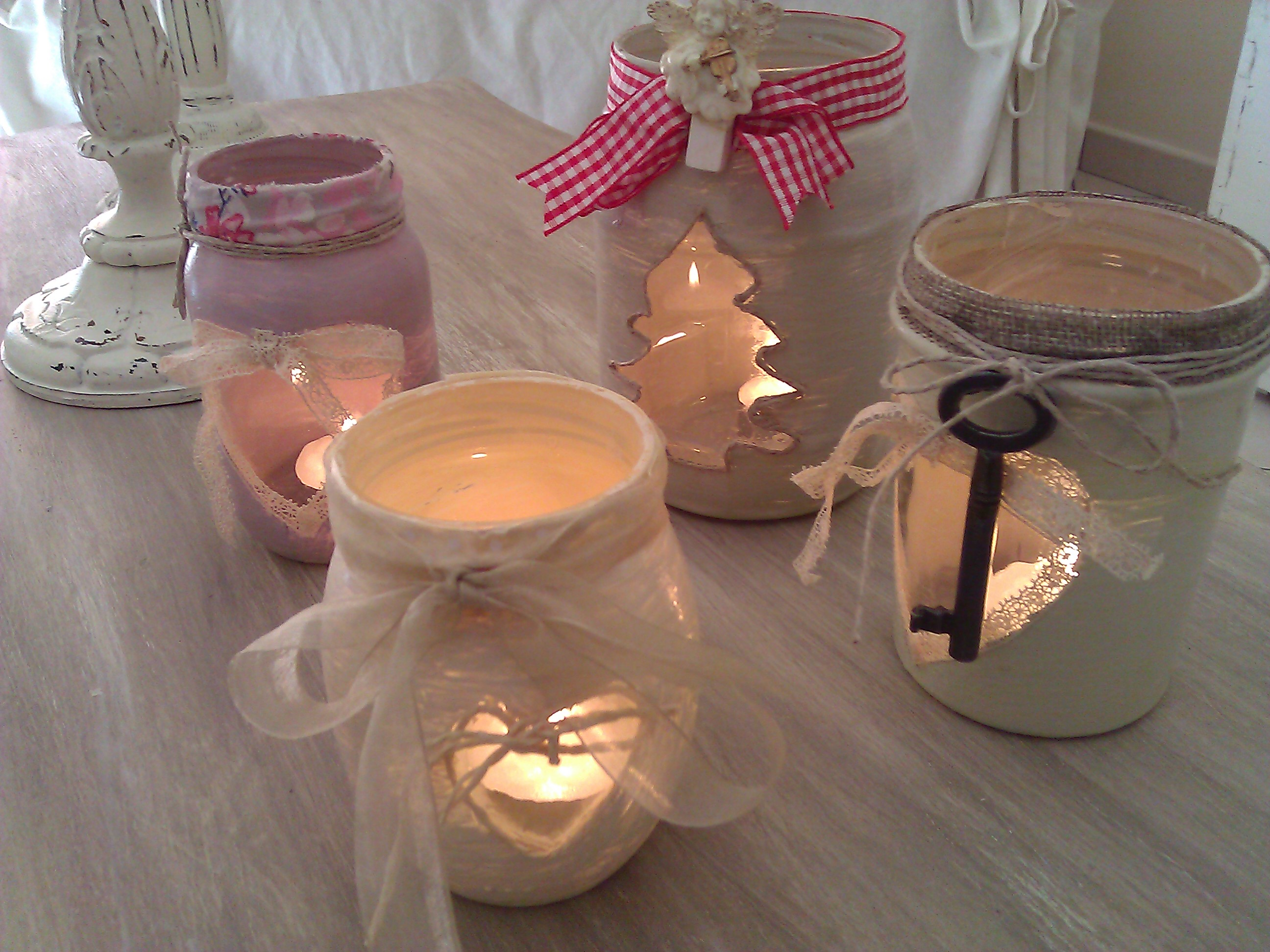 Utilizzo di pomelli nella creazione di barattoli di vetro - Bagno con sale grosso ...