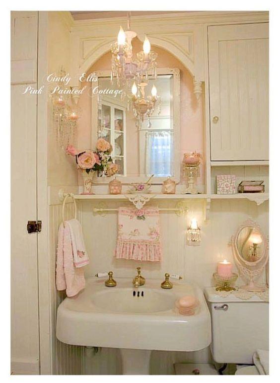 Come trasformare un semplice bagno in uno shabby il blog italiano sullo shabby chic e non solo - Shabby chic interiors bagno ...