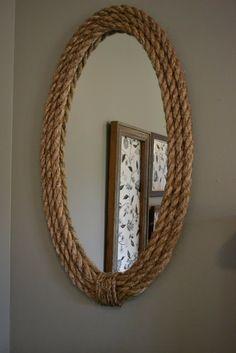 Specchi in stile shabby incorniciati con la corda il blog italiano sullo shabby chic e non solo - Specchi shabby ikea ...