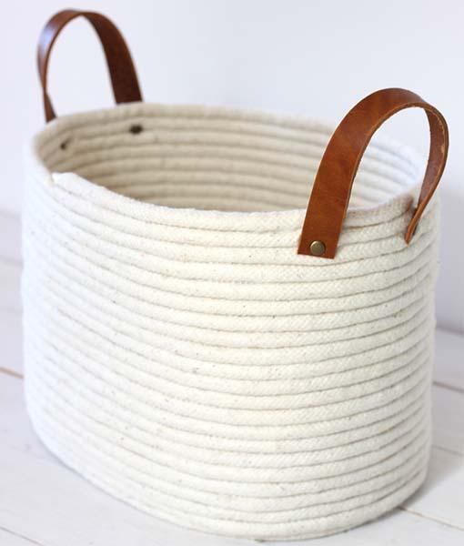 Tutorial per creare un cesto con la corda