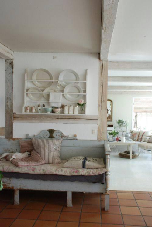 Deliziosi divani panche in stile Shabby Chic