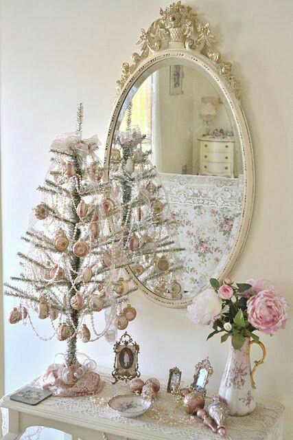 Raccolta di alberi e decorazioni natalizie nello stile - Decorazioni shabby natalizie ...
