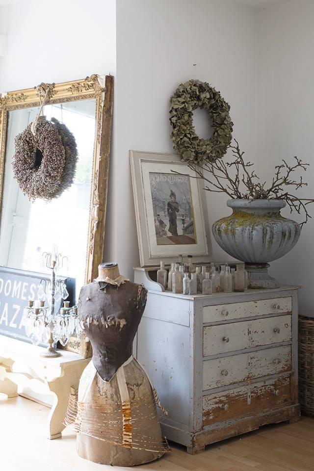 Raccolta di alberi e decorazioni natalizie nello stile - Decorazioni natalizie stile shabby chic ...
