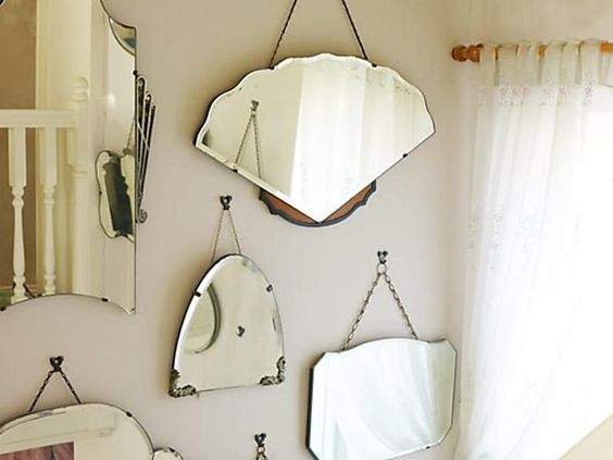 Idee per una parete monotematica in stile Shabby Chic