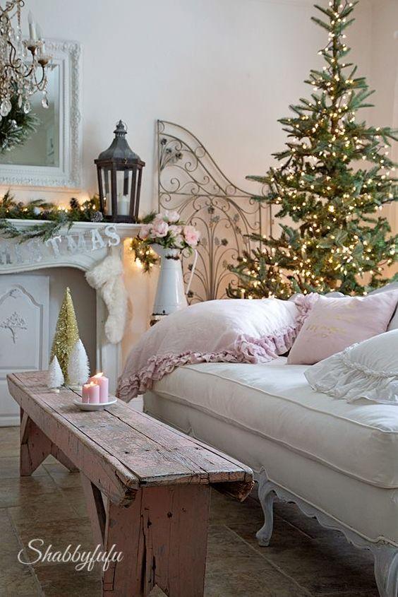 Adornare la casa Shabby a Natale