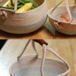 Creare un cesto Shabby con la corda facile tutorial