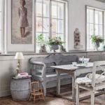 Aggiungi una Panca Shabby in cucina al posto delle sedie!